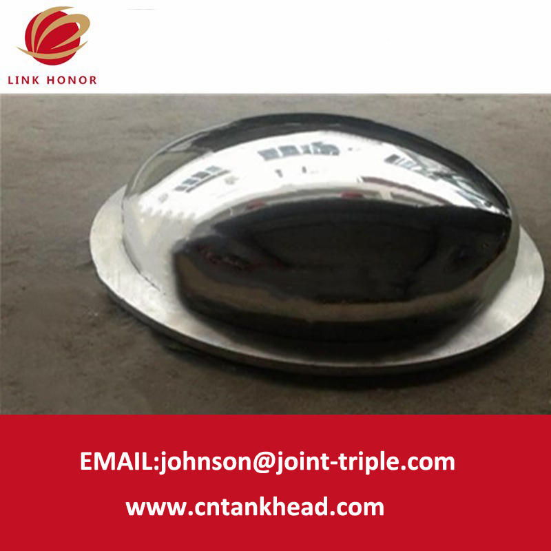 1-01-10 Mirror Polishing Stainless Steel Elliptical Head  with flanged edge
