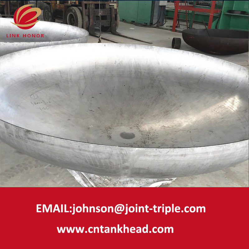 1-01-50  Pressure Vessel Shell Cover with Heat Treatment Huge Stainless Steel Elliptical Dish Head ID7800MM*14MM